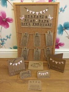 wedding table plan - Cork - Vintage Rustic Wedding | eBay