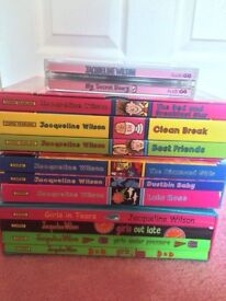 VARIOUS BOOKS INCLUDING JACQUELINE WILSON AND CATHY CASSIDY