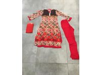 Brand new Asian dress. Size small, red