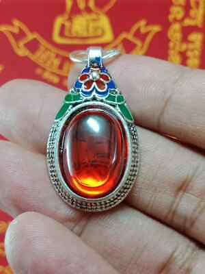 RED NAGA EYE REAL MAGIC POWERFUL PROTECT HEALTH LIFE JEWEL THAI BUDDHA AMULET 99 for sale  Shipping to United States