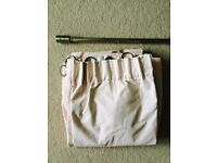 Next pale pink girls blackout curtains and adjustable curtain pole