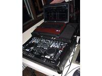 Denon DN-MC6000 audio controller (flight case included)