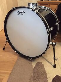 4 piece Fortissimo drum set and rack