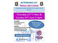 West London based Ladies's Football Club Trials - New Players Wanted