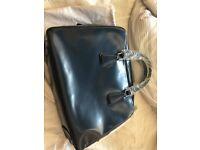 Prada classic enamel briefcase 100% new - Navy