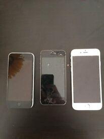 3 X IPHONES . JOBLOT SALE . FAULTY FOR PARTS