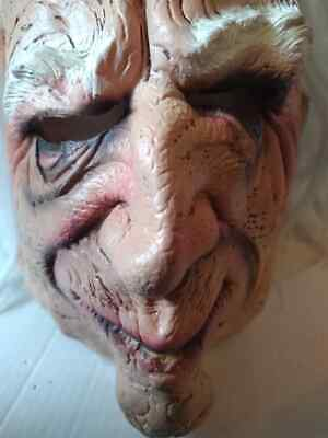2009 TAKE ONE Scary Face Old Man Latex Halloween Scary Mask Prop