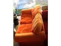 Free 2 seater sofa ideal for kids den, party shed