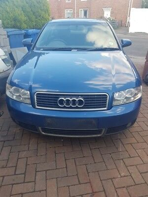 AUDI A4 B6 01 05 COMPLETE FRONT BUMPER IN LZ5W DENIM BLUE GOOD CONDITION