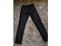 Hearts and Bows Black shiny disco pants size 8