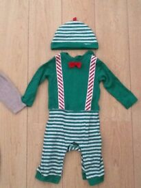 M&S 9 -12 mths Christmas elf with hat