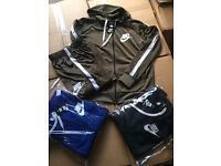 NIKE POLY FULL TRACKSUIT / BLACK / BLUE / KHAKI / ALL SIZES / ***BRAND NEW***