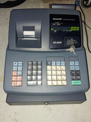 Electronic Cash Register Sharp Model Xe-a22s