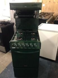 tricity bendix 50cm green eyelevel grill gas cooker