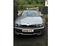 April 2006 BMW 325CI M Sport convertible car. MOT until end of August 2017. Red leather seats