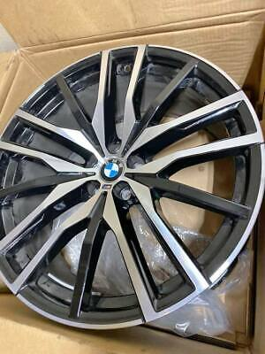 "BMW X5 & X7 SERIES OEM FACTORY GENUINE STYLE 742M 22"" WHEELS AND CENTER CAP SET"