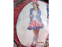 MISS USA / UNCLE SAM FANCY DRESS OUTFIT SIZE 12/14 GREAT FOR A PARTY OR HEN DO