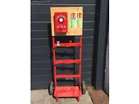 Building Site Fire Extinguisher Station Trolley - With Howler ALARM