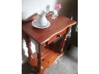 Solid pine hall table