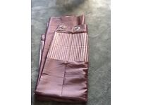 Curtains unused + toning rug + throw all in excellent condition £10 for all