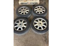 Mini one Set of Alloy wheels and tyres