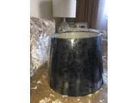 SU CASA (large Black Flock Pattern Lampshade (new)