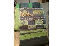 "Next Boys - Navy and Lime Green ""Diggers and Trucks"" Bedding"