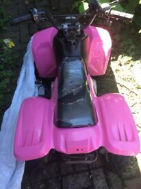 Pink 50 cc quad bike