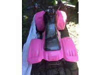 Pink 50 cc quad bike