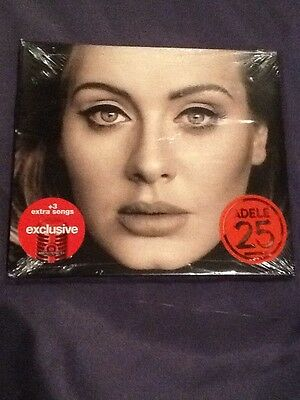 New Sealed Adele 25 Cd Target Exclusive With 3 Extra Songs 2015 Columbia Xl