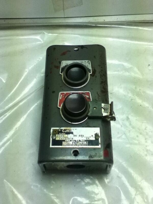 Used Square D 9001-gg-221 Control Station