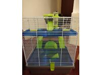 2floor cage for hamsters ( had been used only for 1week)
