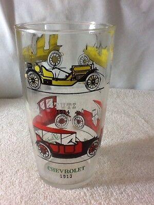"""Vintage Classic Antique CARS AUTOMOBILES DRINKING GLASS, 6 3/4"""" tall, COLLECTIBL d'occasion  Expédié en Belgium"""