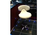 Retro 1950 style bar stool,in white and chrome,as new,space neede hence £15,pos local delivery