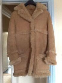 Lambskin 3/4 length coat.