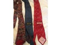 Pink, Henry fox, and michelsons silk ties, excellent condition