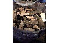 DRIED SPLIT LOGS - Mainly Oak but some apple/ash/pear