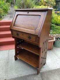 Antique Arts and Crafts Oak Bureau
