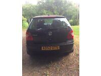 2003 BLACK VW POLO FOR SALE