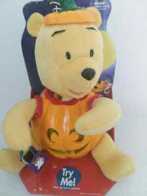Winnie The Pooh Halloween Pumpkins (Disney Winnie the Pooh Halloween Jack O Lantern Pumpkin Animated 15