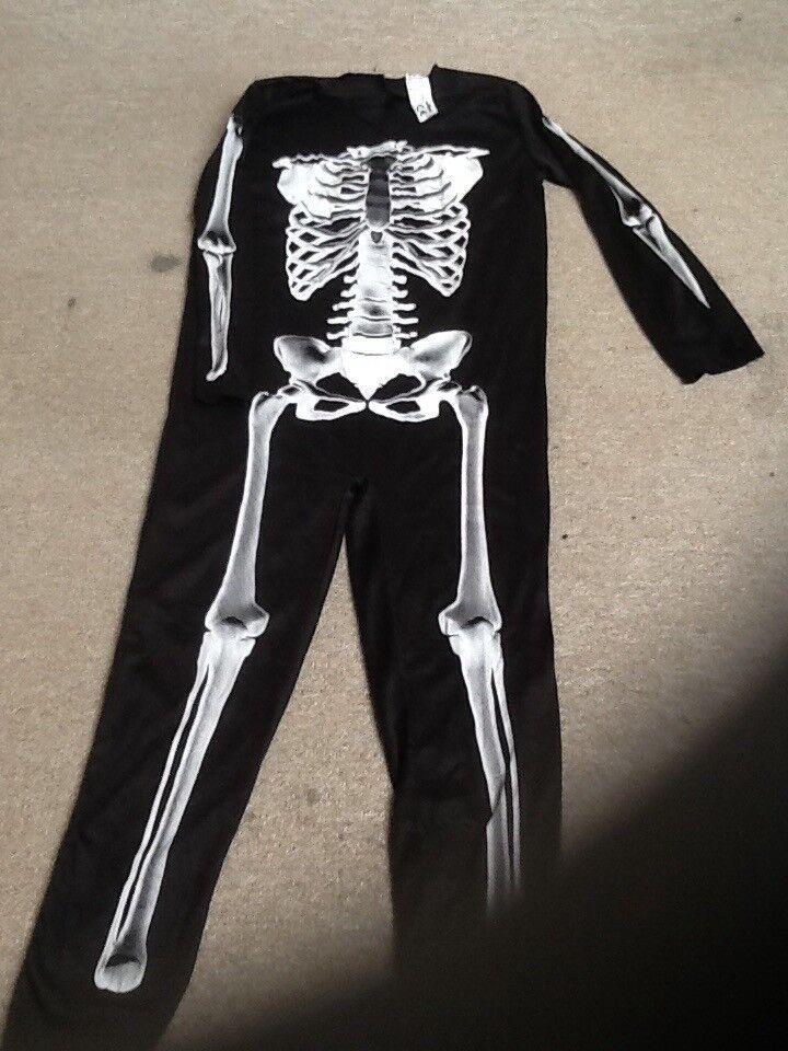 Halloween costume skeleton onsie, age 9-10 (Wilko)