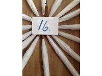Sixteen white nylon umbrellas.(new )