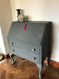 Vintage Bureau with Queen Anne Legs
