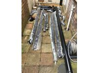 Various Aluminium Guttering, Brackets and Plastic Down Pipe