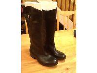Clarks mimic dancer black leather boots size 7