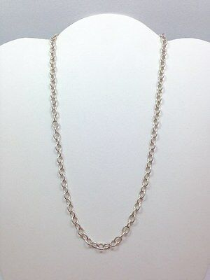 Modern Thin 5.5mm Oval Rolo Link Chain Necklace 18 In Sterling Silver 925 - Thin Rolo Chain