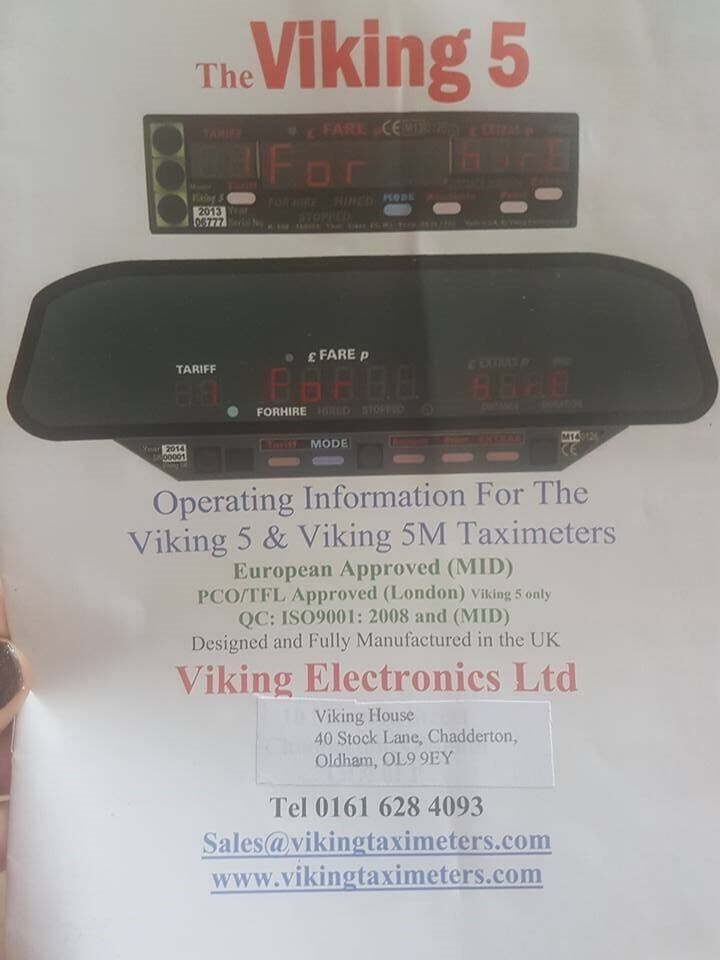 Viking 5 Taxi Meter and printer for Sale