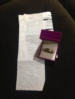 Zamels Jeweller Mens Gold Silver 9carat Polished Ring Retail $500 Girrawheen Wanneroo Area Preview