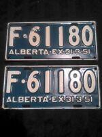 Set of 1950 Licence Plates - Farm Truck