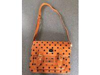 Polka Dot Large 35cm Vintage Style Satchel Shoulder Bag